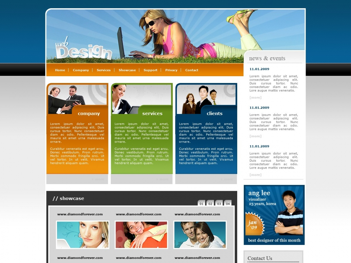 Html Css Templates For Free Web Design Free Html Templates Free Css Templates And More