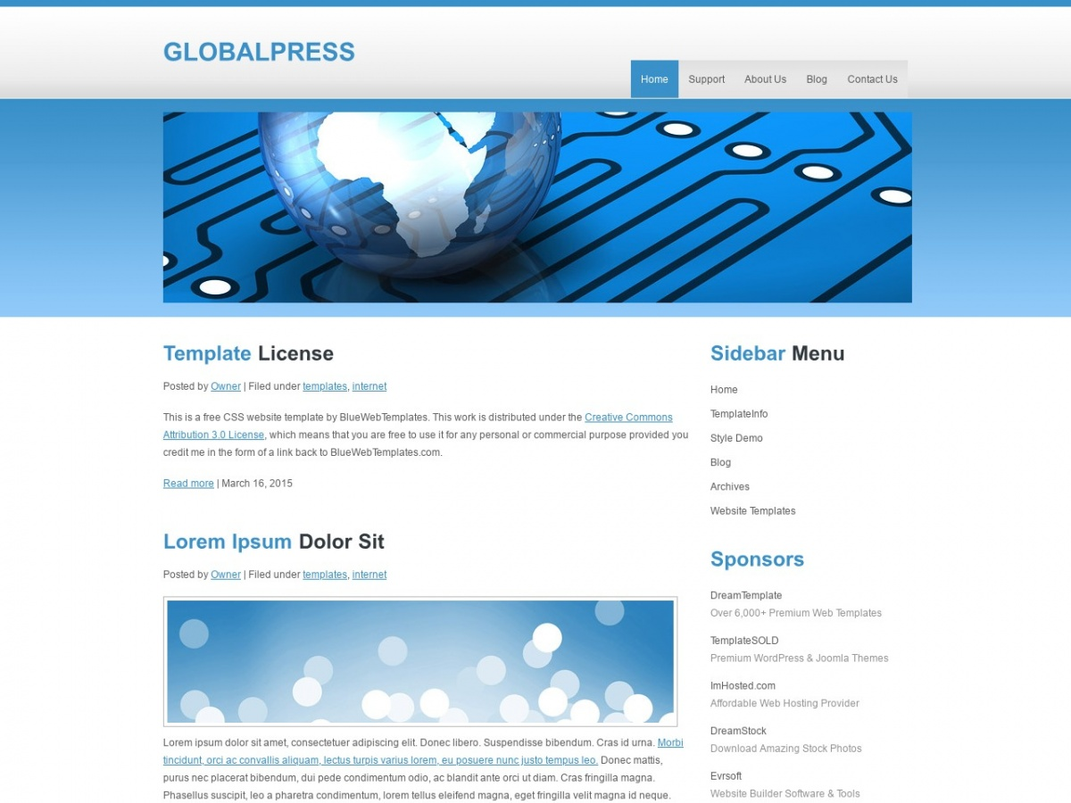 Html Css Templates For Free Downloading Globalpress Free Html Templates Free Css Templates And More