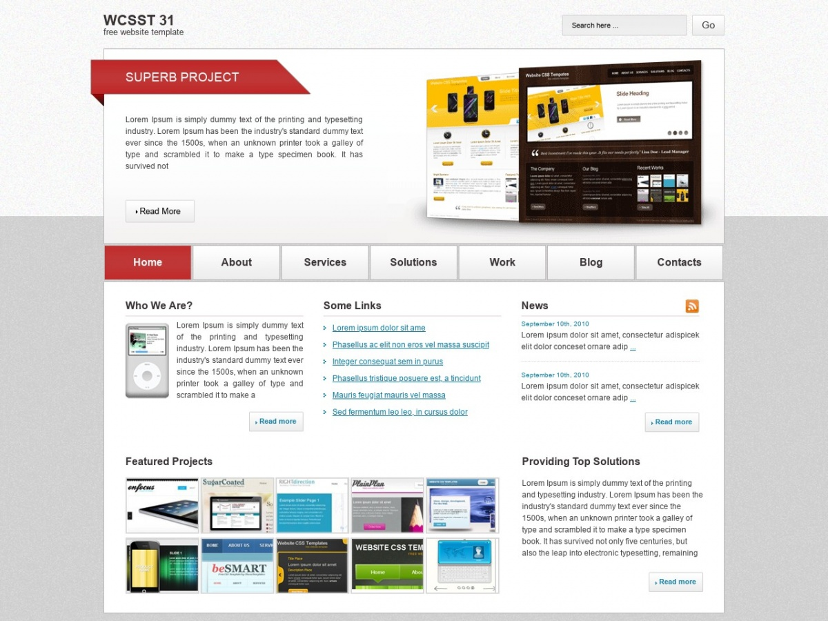 Html Css Templates For Free Downloading Wcsst 31 Free Html Templates Free Css Templates And More