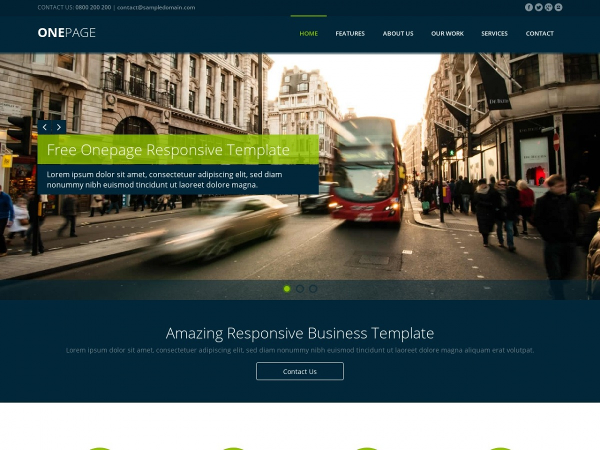 free css template responsive one page